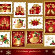 Stock Vector: Traditional christmas symbols