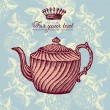 Retro design with teapot - Imagens vectoriais em stock