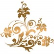 Royalty-Free Stock Vector Image: Beautiful gold ornament with flowers and curls