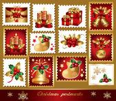 Traditional christmas symbols — Stock Vector