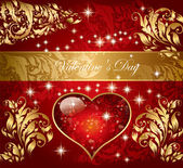 Beautiful holiday card with heart — Stockvector