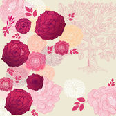 Beautiful floral background — Vettoriale Stock