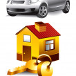 Vector Icons: car and home — Stock Vector #5271533