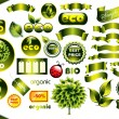 Vector set of ecological elements — Stock Vector
