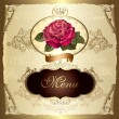 Vintage label with rose - Stock Vector