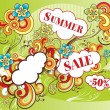 Vector illustration on theme summer sale — Stock Vector