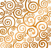 Beautiful gold christmas curly pattern — Stock Vector