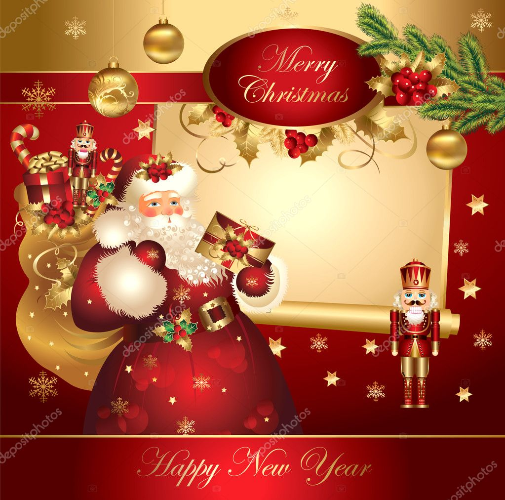 Christmas banner with Santa Claus   Imagen vectorial #5314038