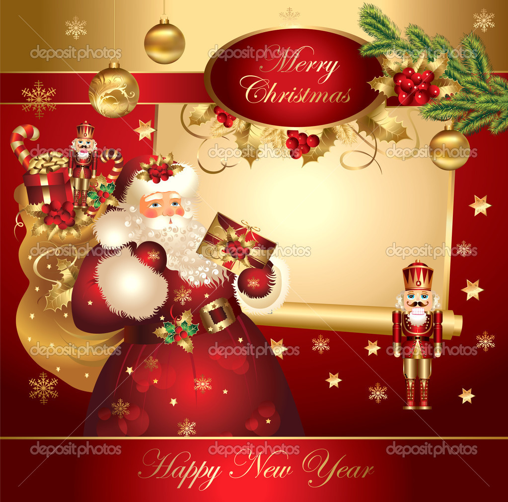 Christmas banner with Santa Claus  — Imagen vectorial #5314038