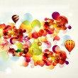 Abstract illustration with balloons — Stock Photo