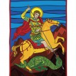 Saint gheorghe killing dragon — Vector de stock #4403691