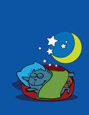Dreaming kitten — Stock Vector