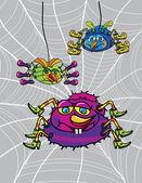 Spiders cartoon — Stock Vector