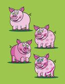 Pink piggy — Stock Vector