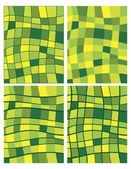 Green squares patterns — Stock Vector