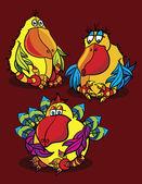 Birds cartoon — Stock Vector