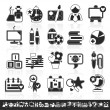 Grayscale school icons — Stock Vector #4347631