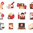 Beautiful business icons - Stock Vector