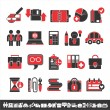 Interesting business icons — Stock Vector