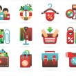 Interesting shopping icons — Stock Vector