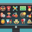Royalty-Free Stock Vector Image: Monitor with sports icons