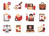 Beautiful business icons — Stock Vector