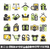 Shop icons — Stock Vector