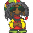 Stock Vector: Reggae man