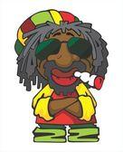 Reggae man — Stock Vector
