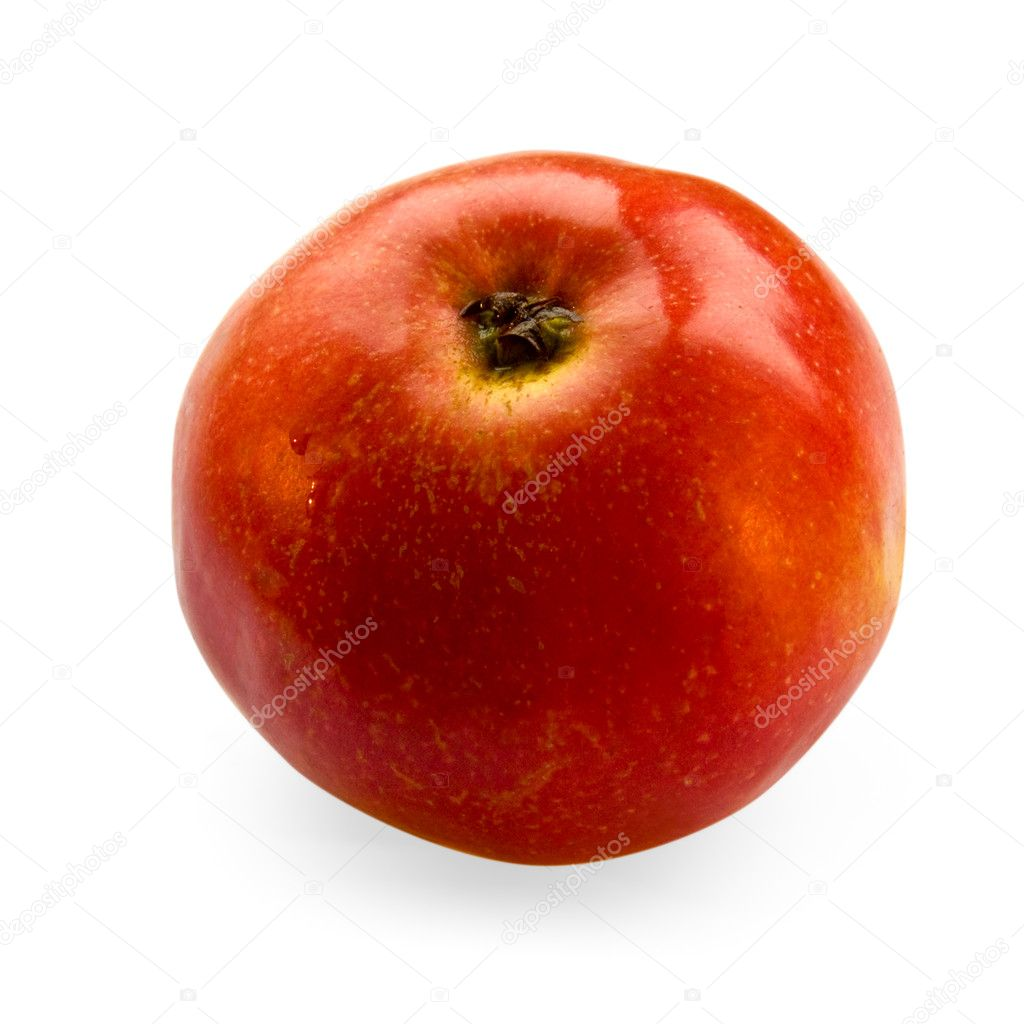Juicy red apple isolated on a white background — Stock Photo #4412477