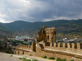 Wall and Tower Genoese fortress in Crimea — 图库照片