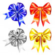 Vector set of shiny ribbon bows — Stock Vector