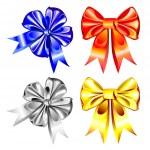 Vector set of shiny ribbon bows — Stock Vector #4745458