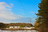 High-voltage power lines — Stock Photo