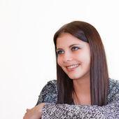 Mladá krásná bruneta smilling dívka — Stock fotografie