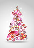 Abstract new year tree — Stock Vector