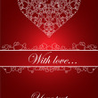 Nice vector card with hearts — Stock Vector