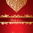 Nice vector card with golden hearts — Stock vektor