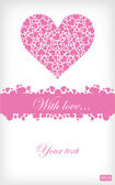 Pink valentines card — Stock Vector