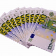 Stock Photo: 1000 euros in 100 euro banknotes