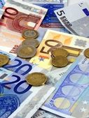 Euro money notes & coins — Foto Stock