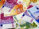 A mixture of euro money notes — Stock Photo