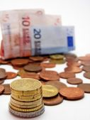 Euro currency with shallow DOF — Stock Photo