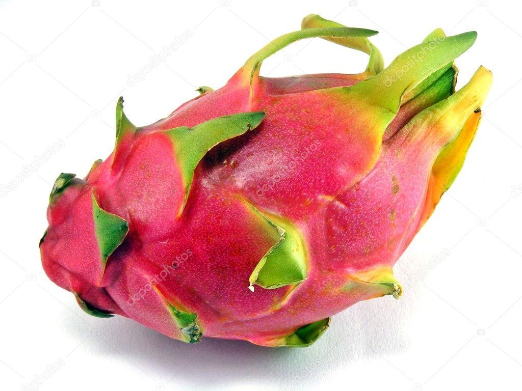 Pitahaya Dragon Fruit Dragon Fruit on a White