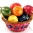 Easter eggs in a basket — Stock fotografie