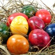 Royalty-Free Stock Photo: Easter eggs on grass