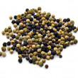Stock Photo: Peppercorns on white background