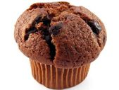 Chocolate muffin close up — Stockfoto