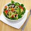 Stock Photo: Mixed salad on place mat
