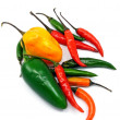 A selection of mixed chillies - Stock Photo